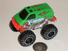 "Diecast X-Motion Super Racing Green Monster Truck 3"" USED"
