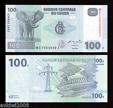 Congo 2007 100 Francs P-98 Mint UNC Uncirculated Banknotes