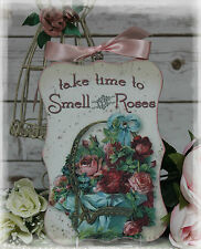 "NEW! ""TAKE TIME ..."" Vintage Shabby Country Cottage Chic style Wall Decor. Sign"