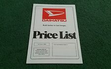 June 1985 DAIHATSU FOURTRAK CHARMANT CHARADE DOMINO 850 UK PRICE LIST BROCHURE