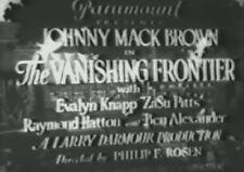 THE VANISHING FRONTIER 1932 (DVD) JOHNNY MACK BROWN, EVALYN KNAPP, ZASU PITTS