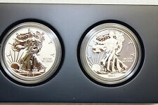 """2013 WEST POINT AMERICAN SILVER EAGLE PROOF 2 COIN SET S40 """" W """" MINT MARK, COA"""