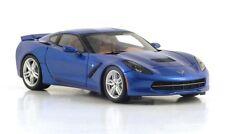 Spark 1/43 2014 Corvette C7 Laguna Blue Tintcoat tan interior S2973