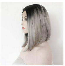 Ombre Grey Mix Black Synthetic Hair Wigs Long Wig Women's  Fashion Hair Cosplay