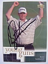 RORY SABBATINI signed 2001 Upper Deck golf card AUTO SOUTH AFRICA ARIZONA #80 UD