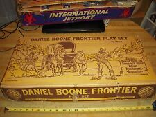 Ideal Vintage Playset Daniel Boone Frontier Toy Western Covered Wagon Train Marx