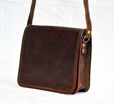 New Genuine Goat Leather Men Laptop Shoulder Bag Messenger Vintage Briefcase Bag