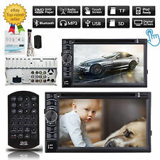 """2 Din 6.2"""" In-dash Bluetooth Car Stereo DVD MP3 Player FM Radio Touch Screen AUX"""