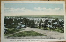 Columbia, SC 1920 Postcard: Camp Jackson Infantry Barracks - South Carolina