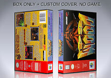 DOOM 64. NTSC VERSION. Box/Case. Nintendo 64. BOX + COVER. (NO GAME).