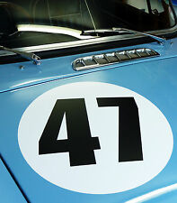 CLASSIC VINTAGE CAR RACE RALLY NUMBERS 40cm PAIR MG MGA MGB TRIUMPH ASTON RILEY