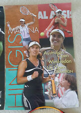 MARTINA HINGIS Swiss Miss NEW Ace Authentic TENNIS POSTER + ANDRE AGASSI