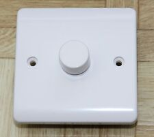 Trailing Edge LED dimmer switch, White, 1 gang 2 way, Push on / off
