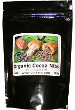 Organic Peruvian Cacao Nibs ~ Raw Cocoa Bean Chocolate One Pound 453g 16oz 1LB