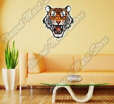 "Angry Wild Tiger Scary Head Back Off Wall Sticker Room Interior Decor 20""X25"""