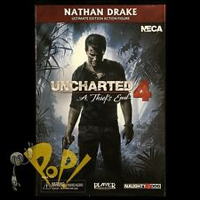 "UNCHARTED 4 Nathan DRAKE 8-Bit VIDEOGAME Action Figure NECA 7"" New in BOX!"