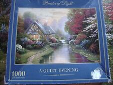 1000 PUZZLE FROM THOMAS KINKADE TITLED A QUIET EVENING