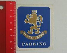 Aufkleber/Sticker: Hotel LAV Parking (03061648)