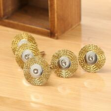 5PCS 25mm Brass Wire Wheel Brushes Cleaner Polishing Power Rotary Tools