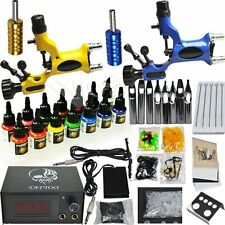 Professional Complete Tattoo Kit 2 Top Rotary Machine Gun 7 Color Ink 50 Needles