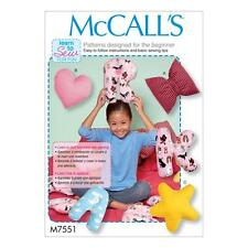 McCALL'S SEWING PATTERN LEARN TO SEW FOR FUN LETTER CUSHIONS PILLOWS M7551