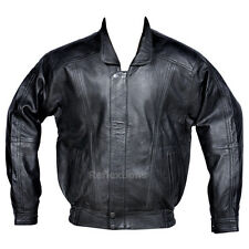 Bomber Leather Jacket Mens Fashion Rider Motorbike Lamb Sheep Soft Leather