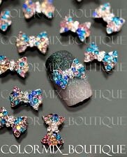 #CA063 10pcs 3D Nail Art Tips Decoration Gold Alloy Jewelry Glitter Rhinestone