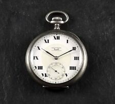 EXTREMELY RARE DITISHEIM TRULY CHRONOMETER SPECIAL REGISTER SILVER POCKET WATCH