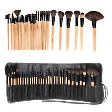 32PCS Wood Make up Brushes Set Brown Professional Cosmetic MakeUp Bobbi Set Tool