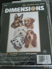 Dimensions 'Canine Charm' new sealed counted  cross stitch kit