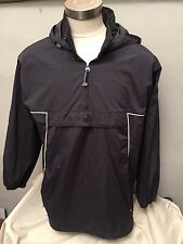 VTG NIKE AIR PULLOVER 1/2 ZIP WINDBREAKER WARM UP JACKET SILVER TAG men sz L acg