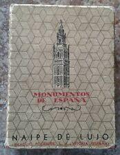 Vintage Monumentos de Espana Deluxe Playing Cards RARE