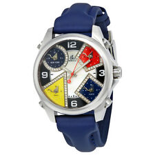 Jacob and Co. Five Time Zones Mother of Pearl Diamond Dial Mens Watch JCM-4DA