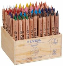 LYRA FERBY HALF-SIZE COLOURING PENCILS NATURAL WOOD FINISH Box of 96 Pencils