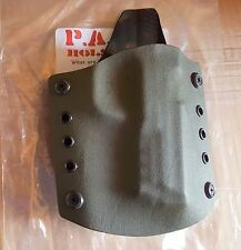 Kydex S&W M&P 9-40 Holster, Made in Texas, Black, Tan, and Dark Green