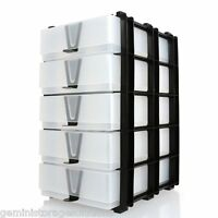 5 x A5 Storage Boxes In A Stak system For papercraft Storage,home & office