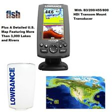 Lowrance HOOK-4 GPS/Fishfinder/Transducer Includes Cover & Nautic Insight Chart