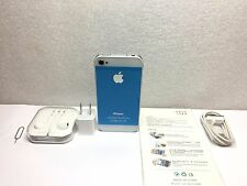 iPhone 4-8GB (GsmUnlocked) Custom Sky Blue i5 back style Straight talk Metro pcs