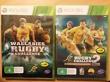 GAME XBOX 360 WALLABIES RUGBY CHALLENGE, TWO GAMES