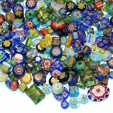 "GL3484 Millefiori Assorted Color Mixed Shape 4-14mm ""Flower"" Glass Beads 4oz"