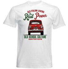 VINTAGE italiana di automobili FIAT 800-Nuovo T-shirt di Cotone