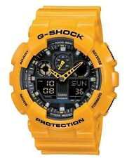 Casio G Shock * GA100A-9A XL Bumblebee Gloss Yellow Gshock Watch COD PayPal