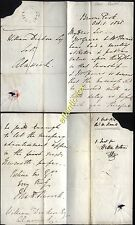 1838 REVD Mathew Burrell M.A. Vicar of Chatton, letter from BROOME PARK Estate