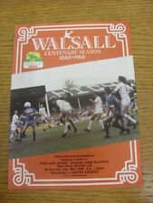 18/05/1988 Play-Off Semi-final división 3 V Notts County: Walsall. condición: