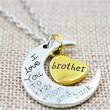 Charm Moon Heart Pendant Necklace For Couples Mother's Day Family Gift N32