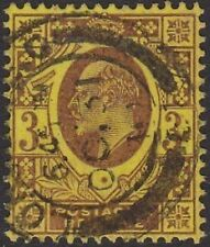 SG 234 3d Purple/Lemon(Chalk) M20(5) in VFU  condition, with dated London CDS.