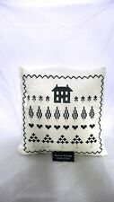 KIRSTIE ALLSOPP FEATHER FILLED  CUSHION CREAM/NAVY RRP£ 38.00 NEW