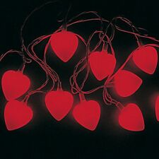 HEART SHAPED LIGHT SET RED HEARTS VALENTINE DECORATIONS BRAND NEW