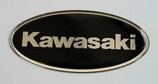 Kawasaki stickers/decals chrome/black-HIGH GLOSS DOMED GEL FINISH-motorcycle