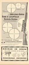 "Vintage 68 magazine ad 8613 for The Leupold Vari-X II 2x7 ""Golden-ring"" Scope"